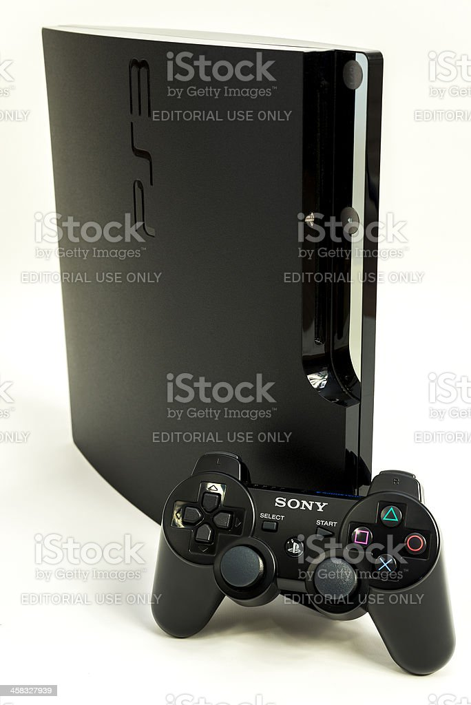 playstation 3 with gamepad royalty-free stock photo