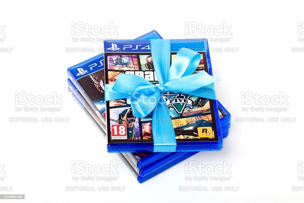 Playstation Spielegta V Fifa Minecraft Xxxl StockFotografie Und - Minecraft gta spiele