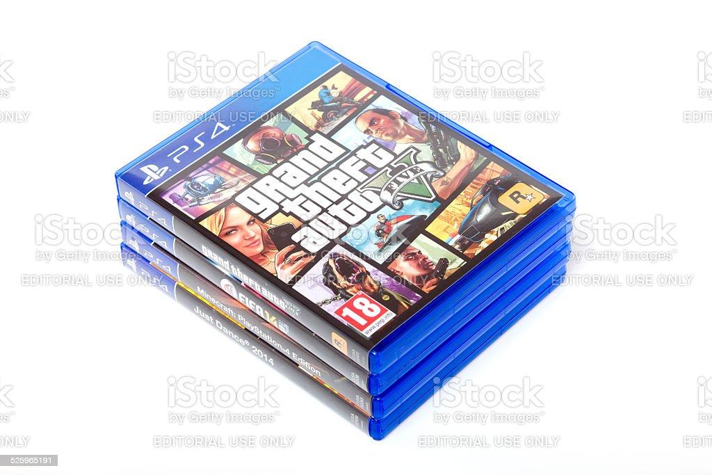 Fotografia De Playstation 4 Juegosgta V Fifa14 Minecraft Xxxl Y Mas