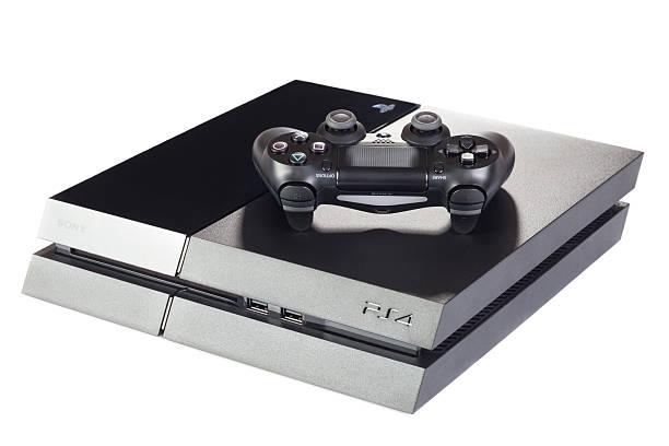 Playstation-Spiele-Konsole mit Controller 4 – Foto