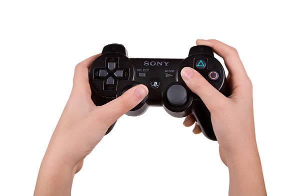 playstation wireless controller - playstation stockfoto's en -beelden