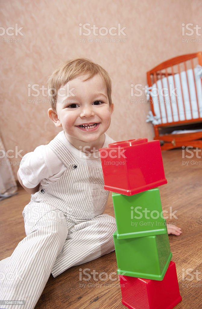 Playtime in playroom royalty-free stock photo
