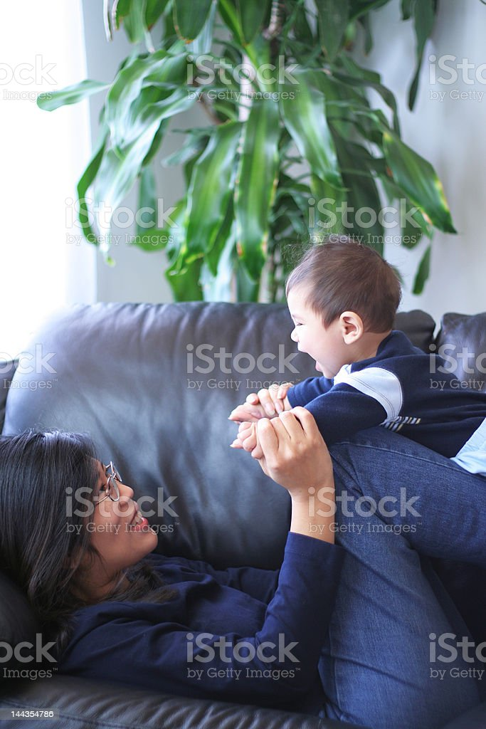 Playtime with Mom royalty-free stock photo
