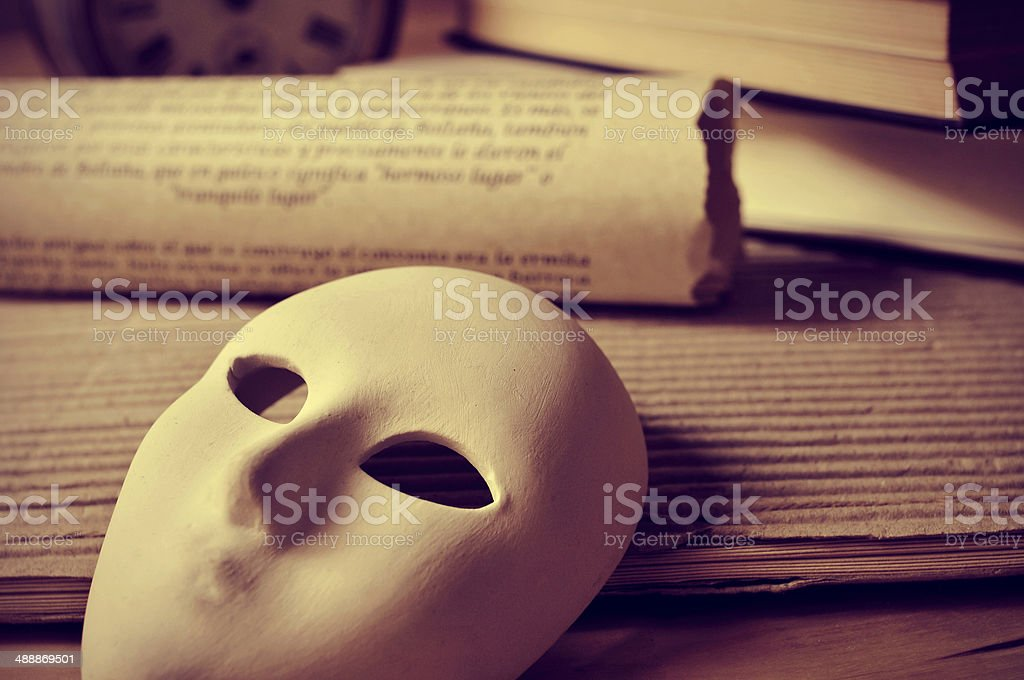 playwriting and performing arts stock photo