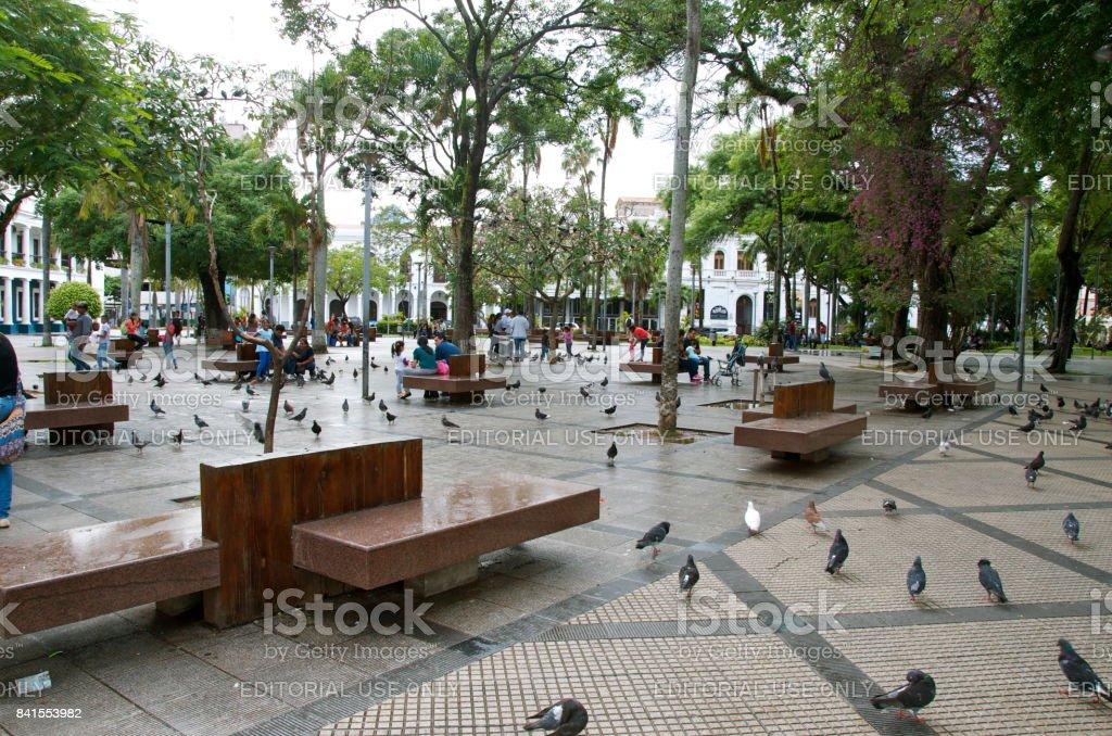 Plaza 24 De Septiembre In Santa Cruz De La Sierra Boliva Stock Photo