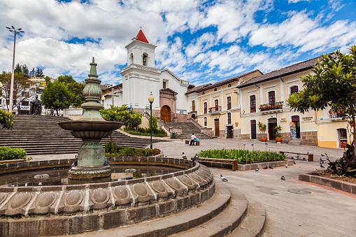 Plaza and church of San Blas