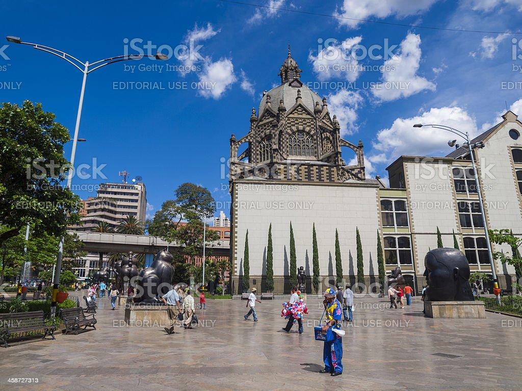 Plaza Botero, Medellin stock photo