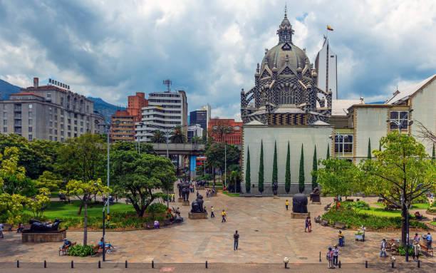 Plaza Botero Square, Medellin, Colombia stock photo