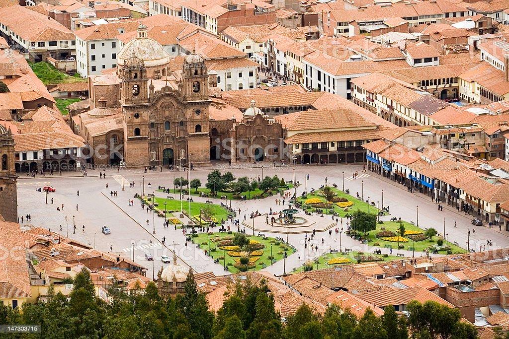 Plaza de Armas, Cuzco, Peru stock photo