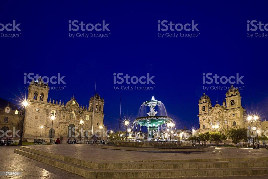 Plaza de Armas in Cusco Peru stock photo