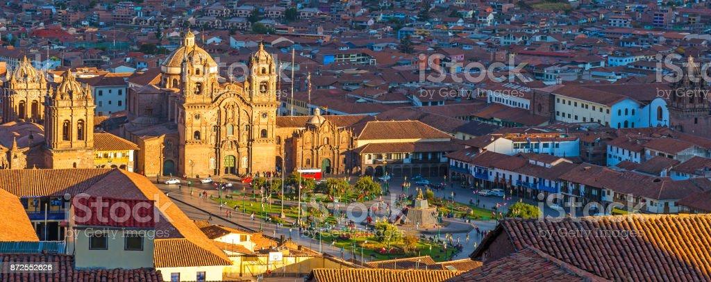 Plaza de Armas in Cusco stock photo