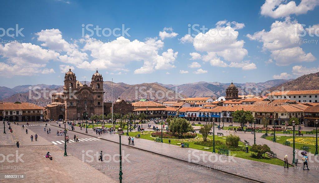 Plaza de Armas in historic center of Cusco, Peru stock photo