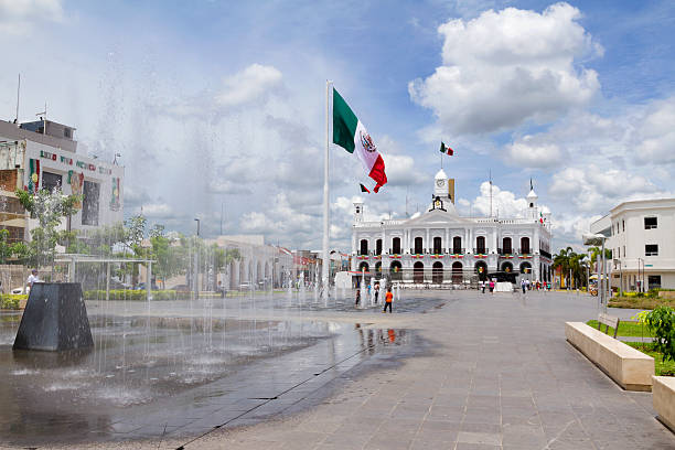 Plaza de Armas in Villahermosa stock photo