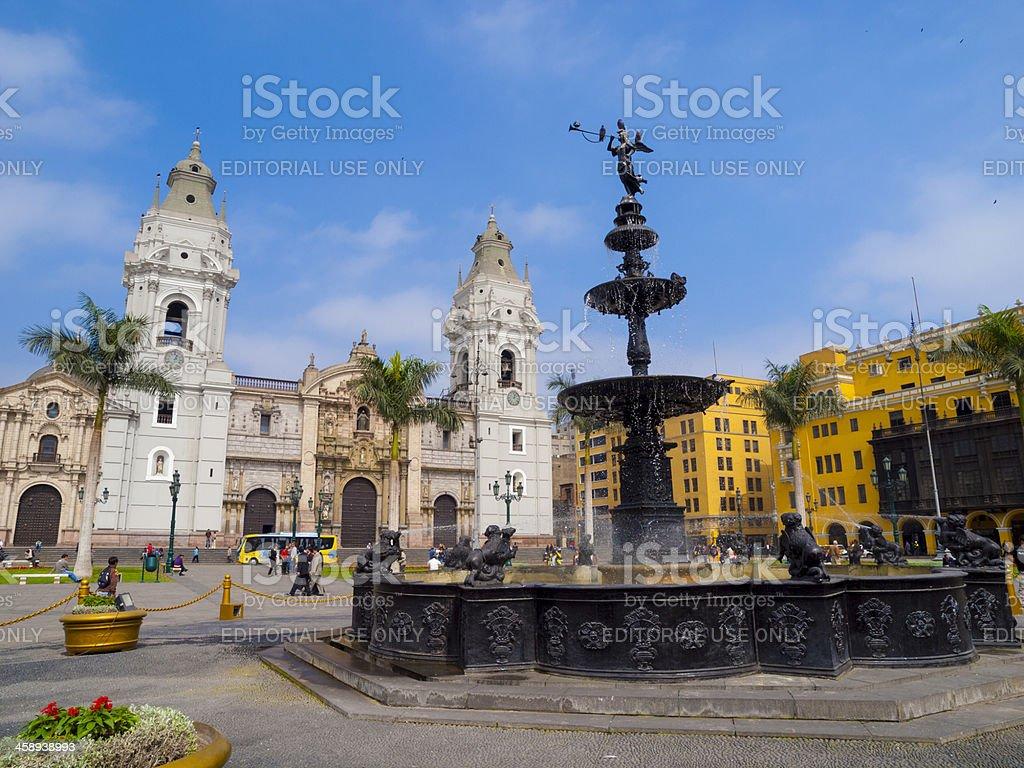 Plaza de Armas, Lima, Peru stock photo