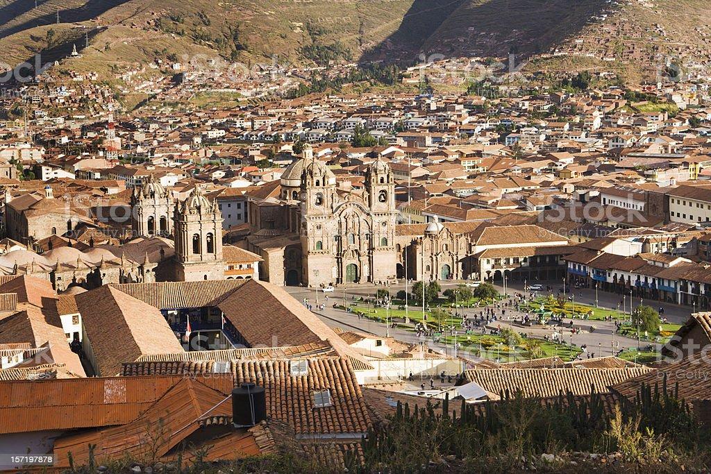 Plaza de Armas of Cuzco, Peru, Landscape of South America stock photo