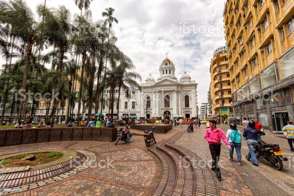 Plaza de Caicedo stock photo