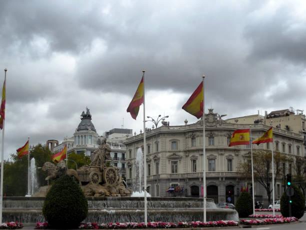 Plaza de Cibeles Exterior, Madrid Spain stock photo