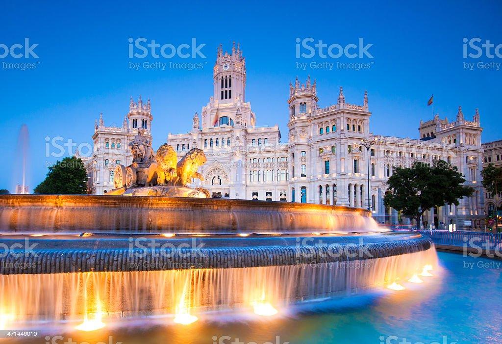Plaza de Cibeles Madrid, Spanien. Lizenzfreies stock-foto