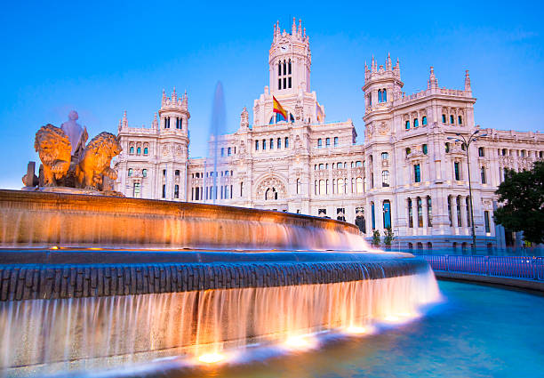 Plaza de Cibeles Madrid, Spanien. – Foto