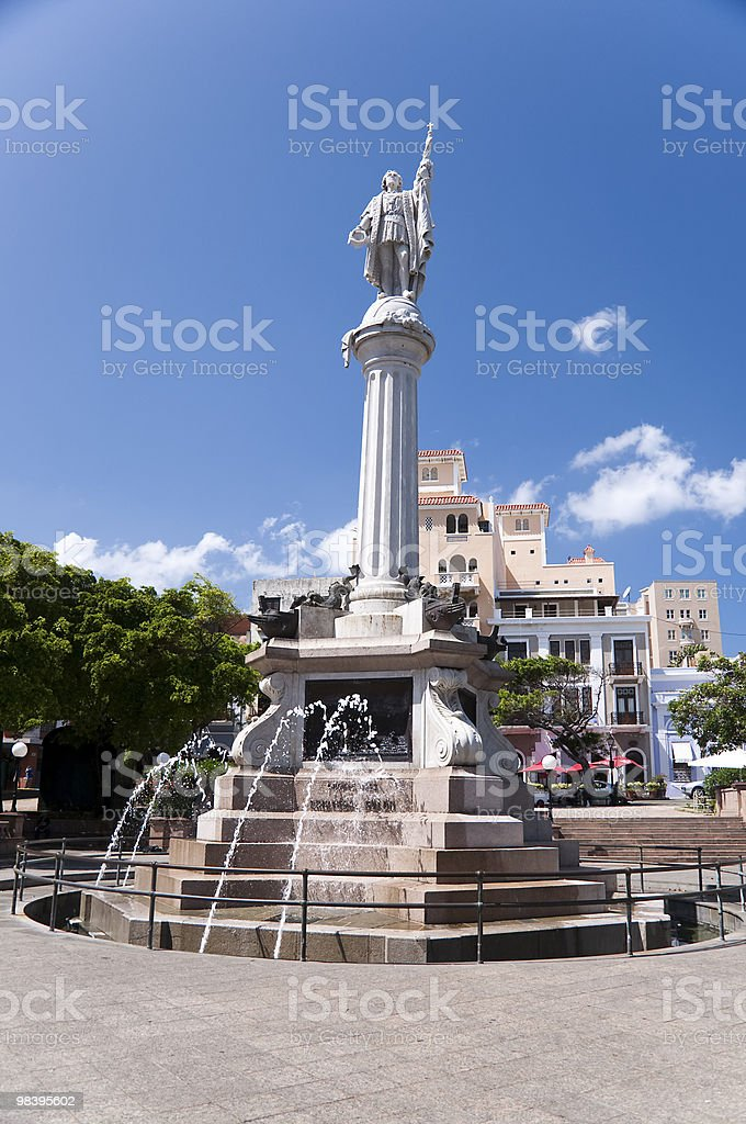 Plaza de Colon, San Juan Puerto Rico royalty-free stock photo