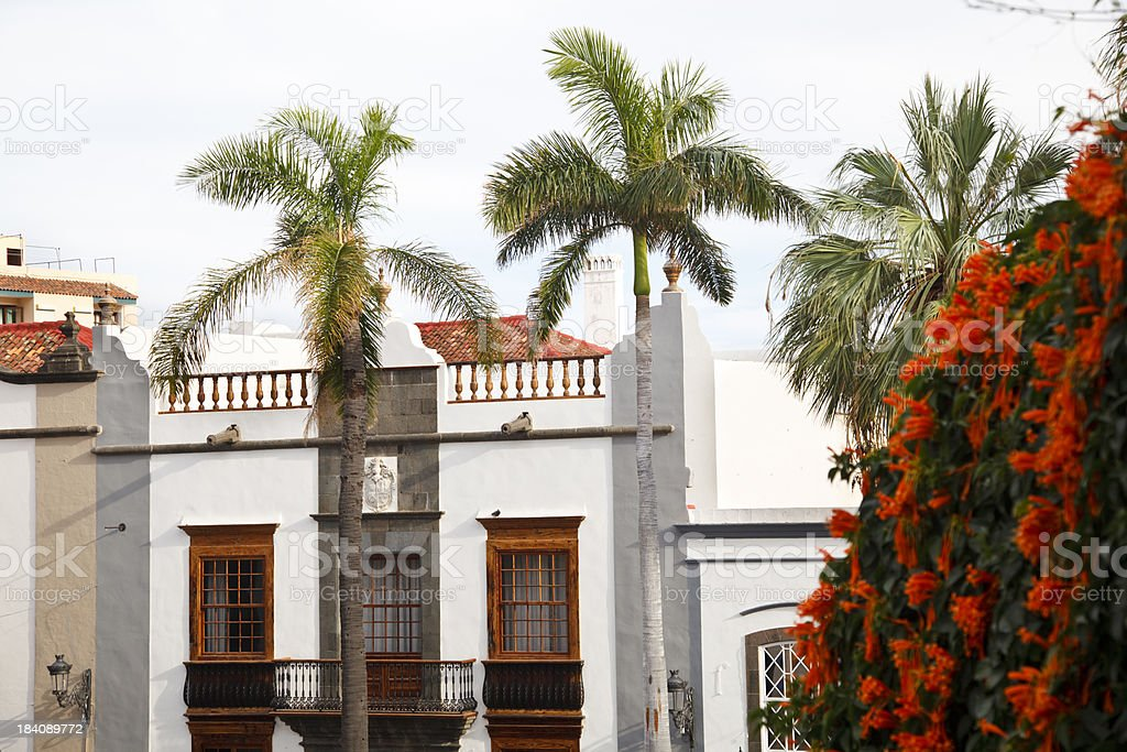 Plaza De España In Santa Cruz, La Palma royalty-free stock photo