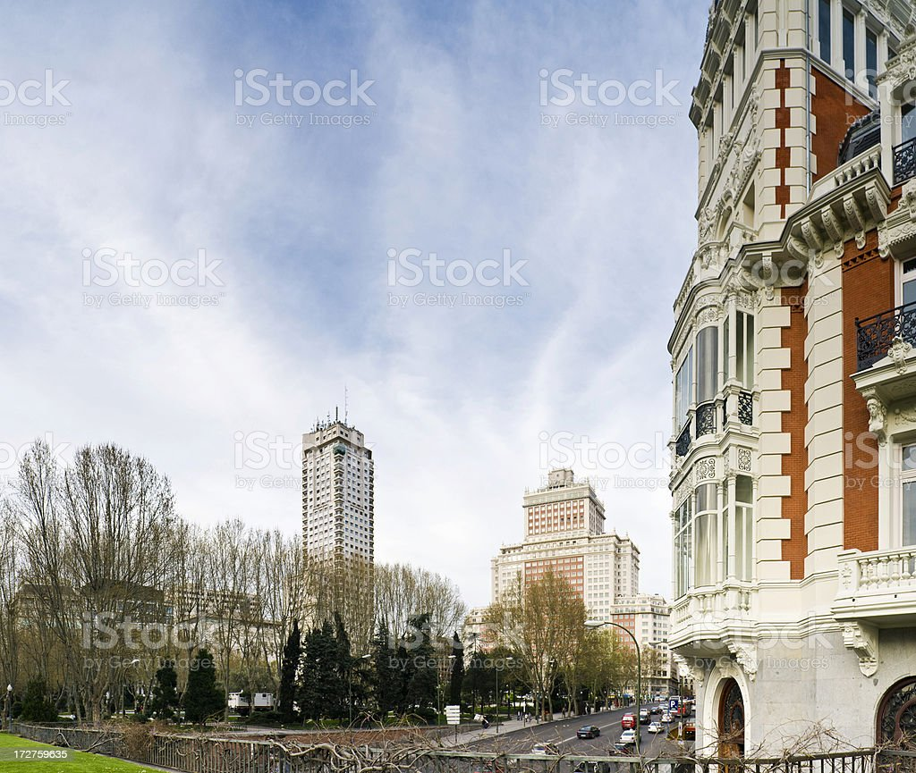 Plaza de España Madrid royalty-free stock photo
