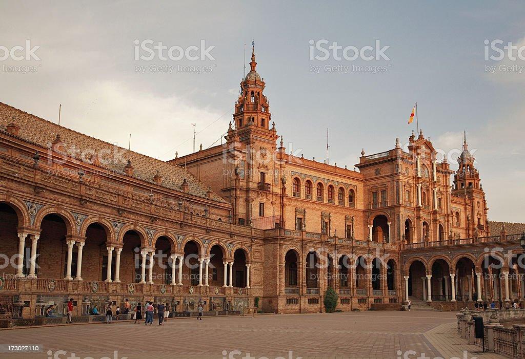 plaza de españa royalty-free stock photo