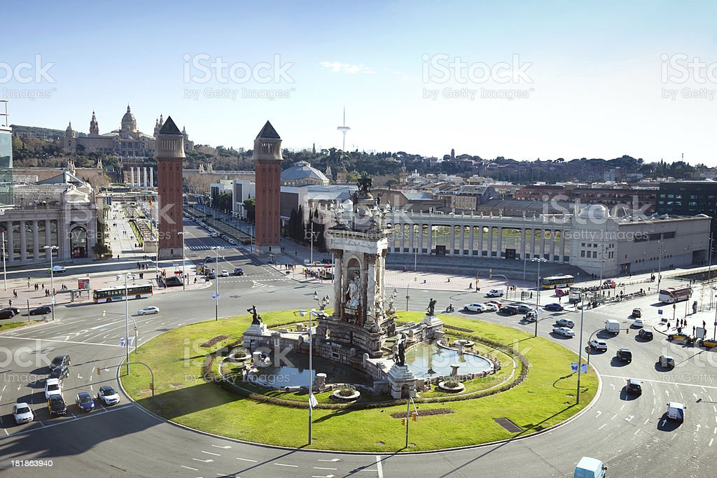 Plaza de España, Barcelona royalty-free stock photo