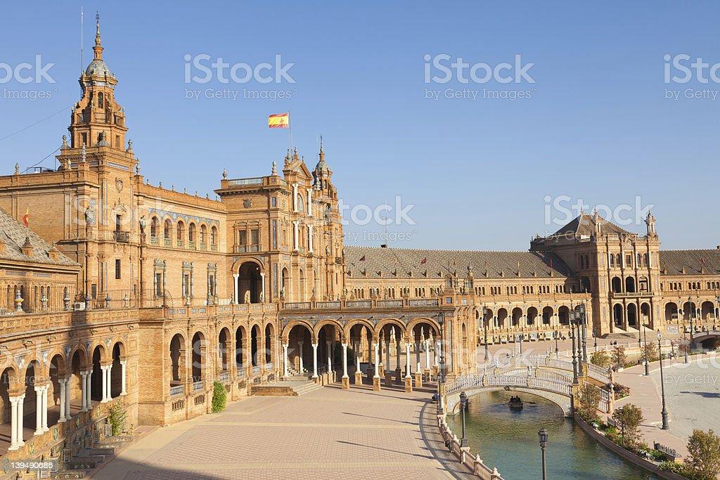 Plaza de España in Sevilla, Spain royalty-free stock photo