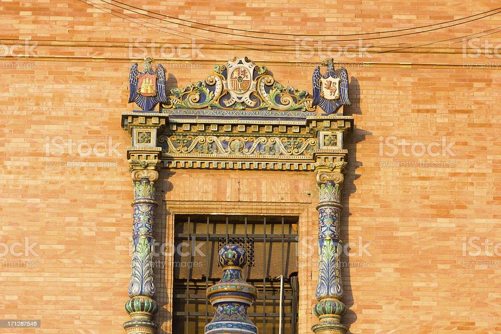 Plaza de España in Seville, Spain royalty-free stock photo
