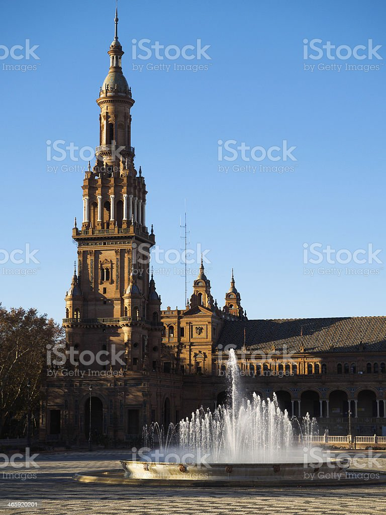 Plaza de España stock photo
