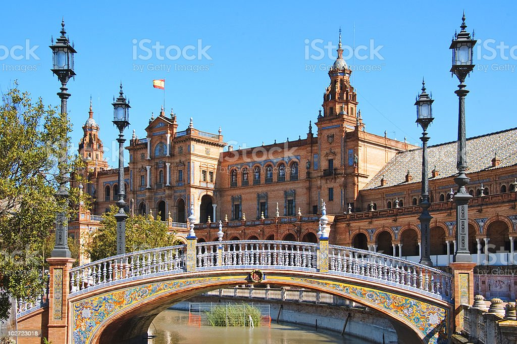 Plaza de España, Seville stock photo