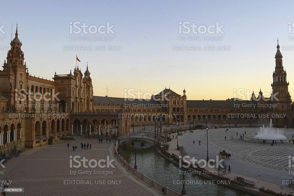 Plaza de España, Sevilla. royalty-free stock photo