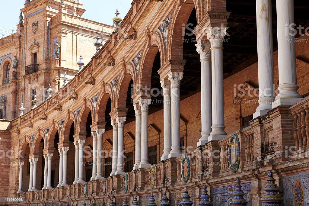 Plaza de España, Seville royalty-free stock photo