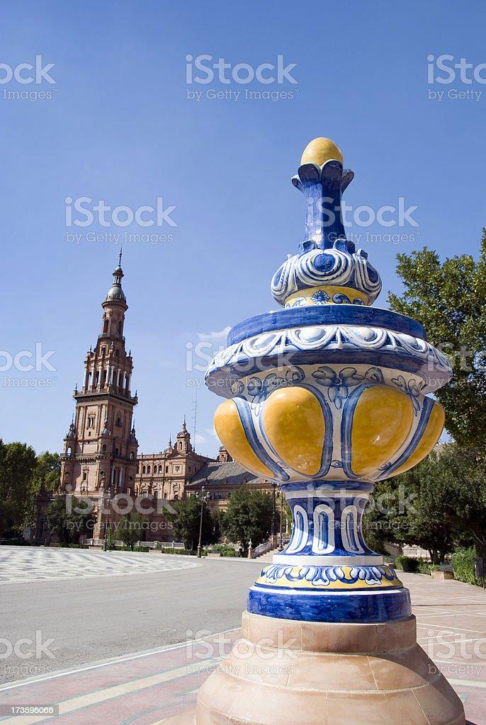 Plaza de Espagna decoration royalty-free stock photo