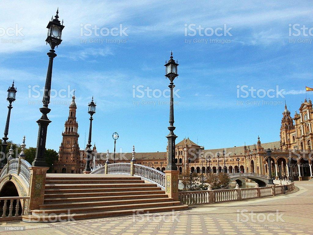 Plaza de Espana, Andalusia royalty-free stock photo