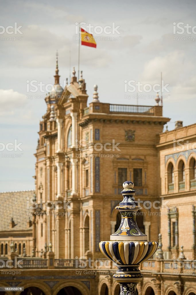 Plaza de Espana detail royalty-free stock photo