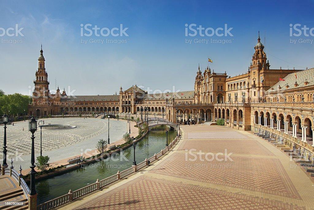 Plaza de Espana in Seville stock photo