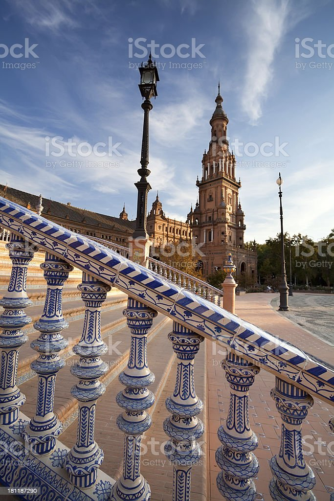 Plaza de Espana in Sevilla, Spain royalty-free stock photo