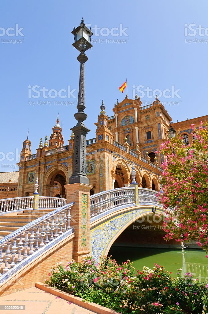 Plaza de Espana in Sevilla, Spain stock photo