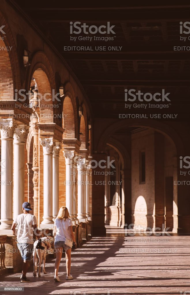 Plaza de Espana in Seville,Spain. stock photo