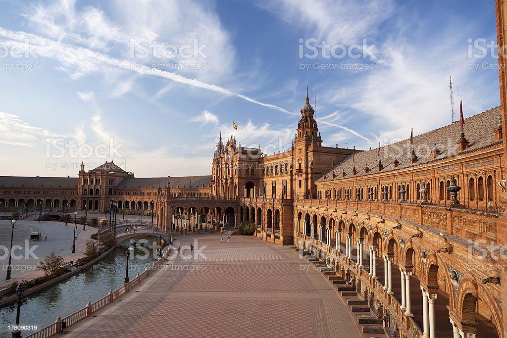 Plaza de Espana palace in Seville, Spain royalty-free stock photo