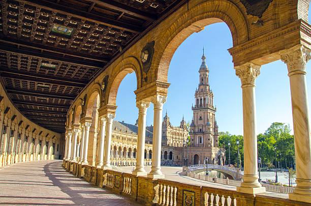 Plaza de Espana Plaza de Espana in Seville, Spain seville stock pictures, royalty-free photos & images