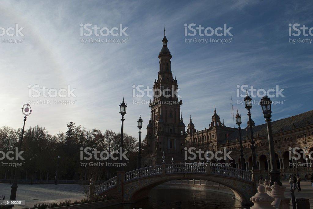Plaza de Espana, Sevilla Andalucia royalty-free stock photo