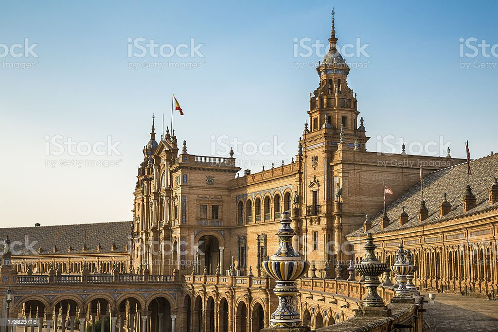 Plaza de Espana Sevilla royalty-free stock photo