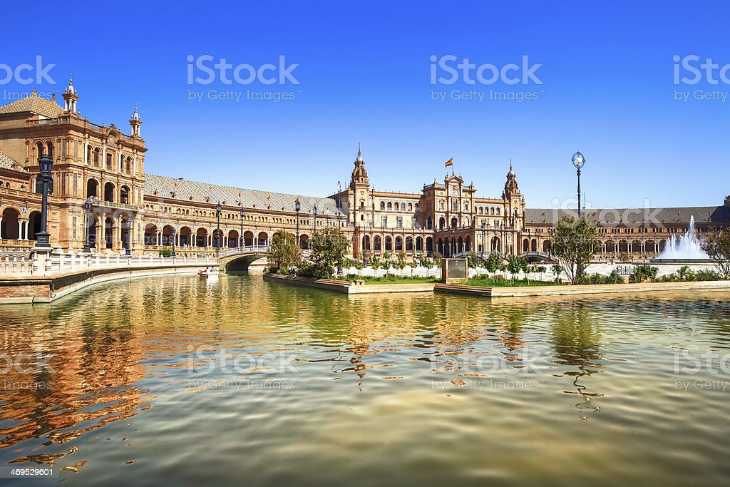 Plaza de espana Seville, Andalusia, Spain, Europe stock photo