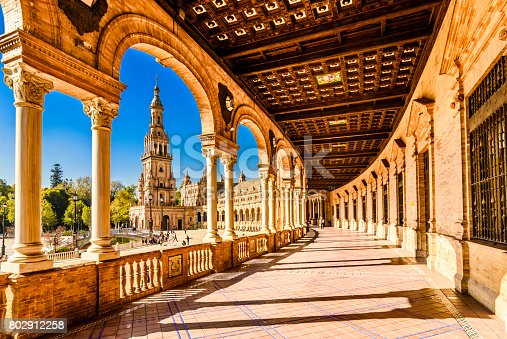 istock Plaza de espana Seville, Andalusia, Spain. 802912258