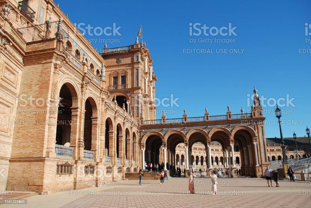 Plaza de Espana, Seville stock photo