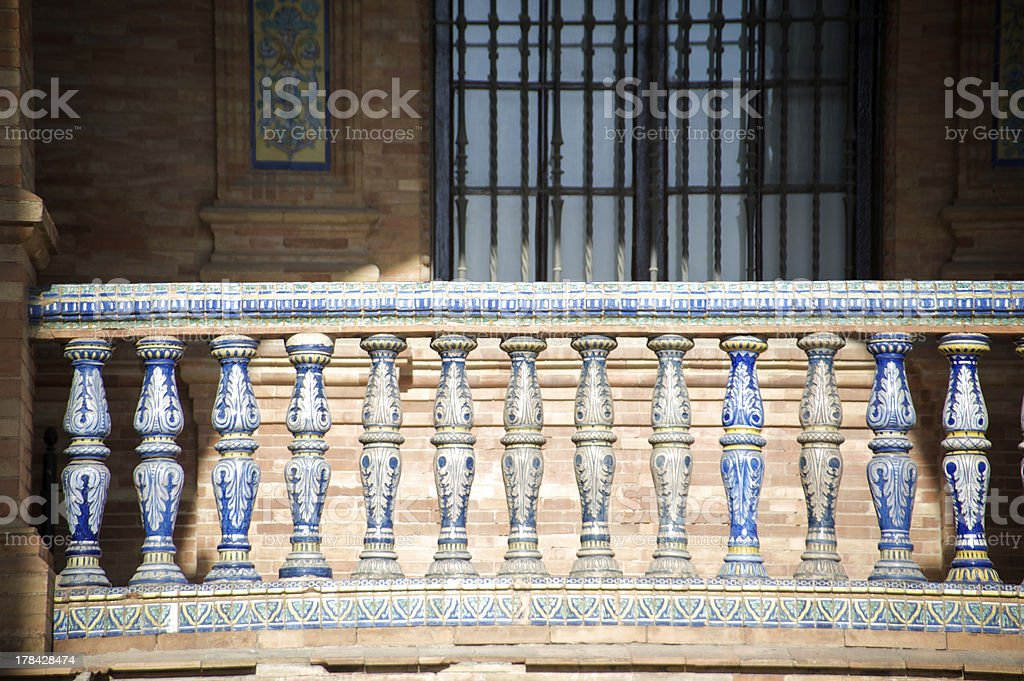 Plaza de Espana - Seville royalty-free stock photo