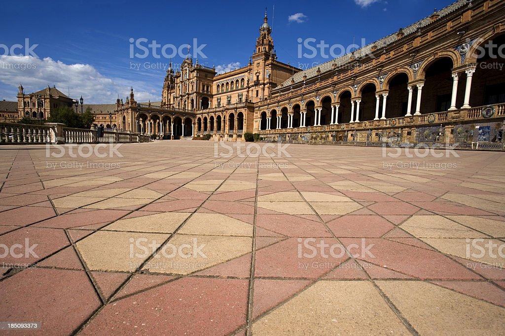 Plaza de Espana, Seville royalty-free stock photo